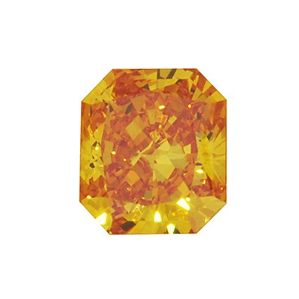 Orange Radiant Lab Created Diamond, top view
