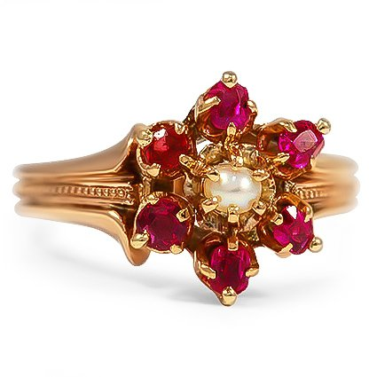 The Marguerite Ring, top view