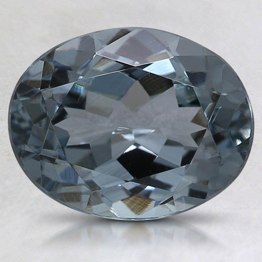9.5x7.4mm Gray Oval Spinel