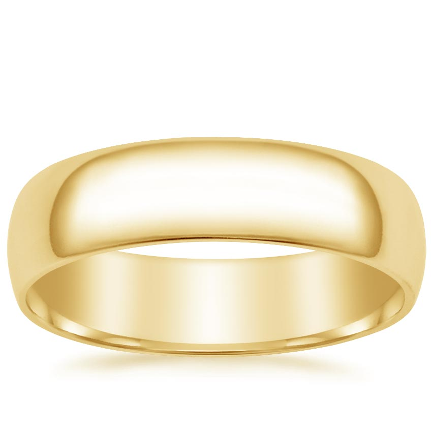 Yellow Gold 6mm Slim Profile Wedding Ring