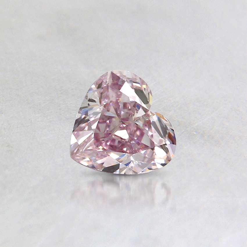 0.31 Ct. Fancy Purple-Pink Heart Colored Diamond