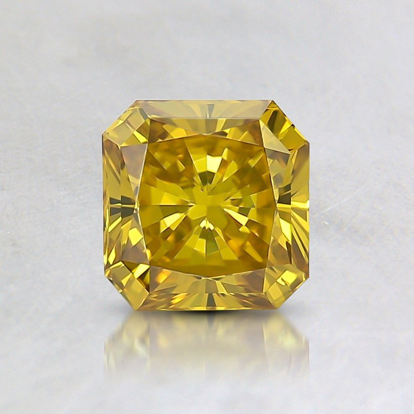 0.69 Ct. Fancy Vivid Yellow Radiant Lab Created Diamond