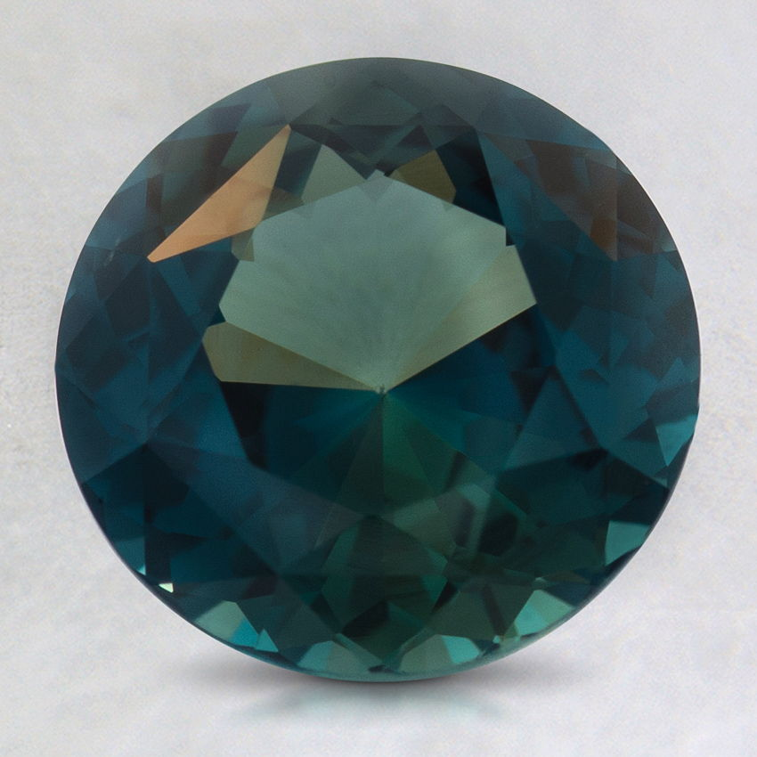 8.5mm Teal  Round Sapphire