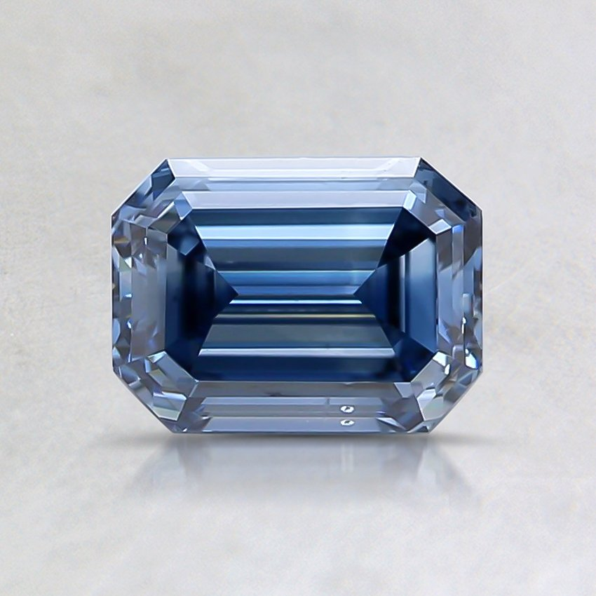 0.80 Ct. Fancy Deep Blue Emerald Lab Created Diamond