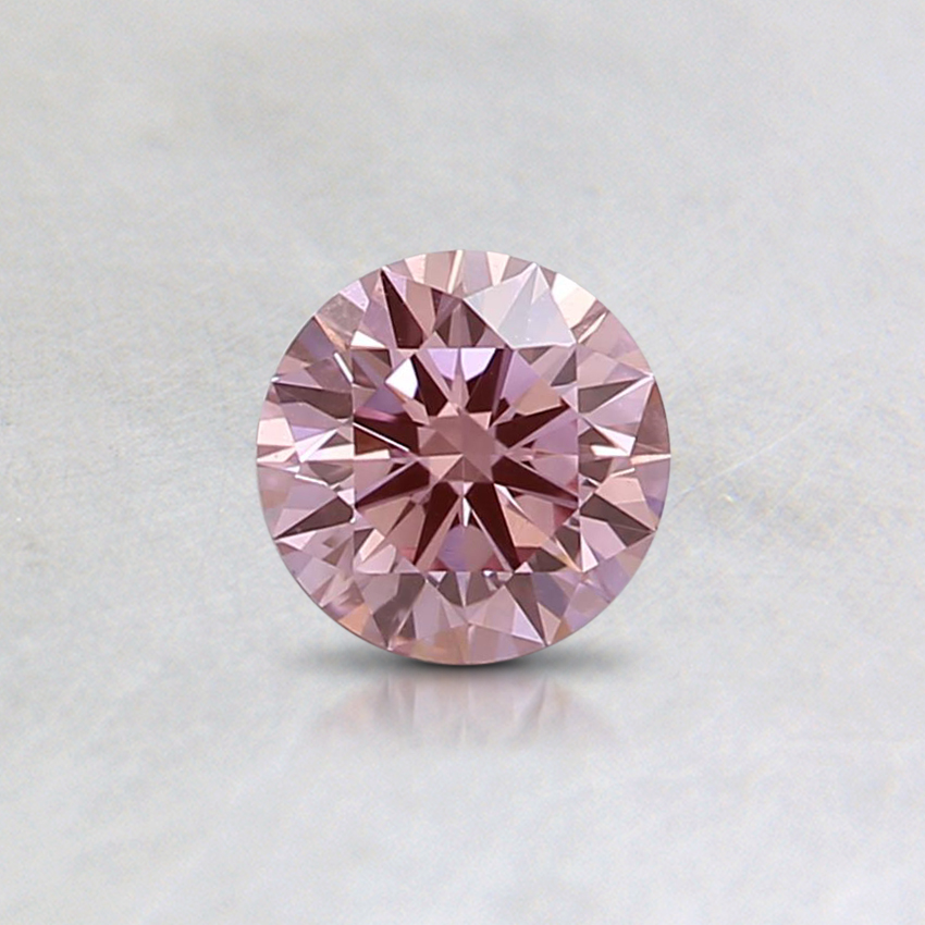 0.33 Ct. Fancy Intense Pink Round Lab Created Diamond