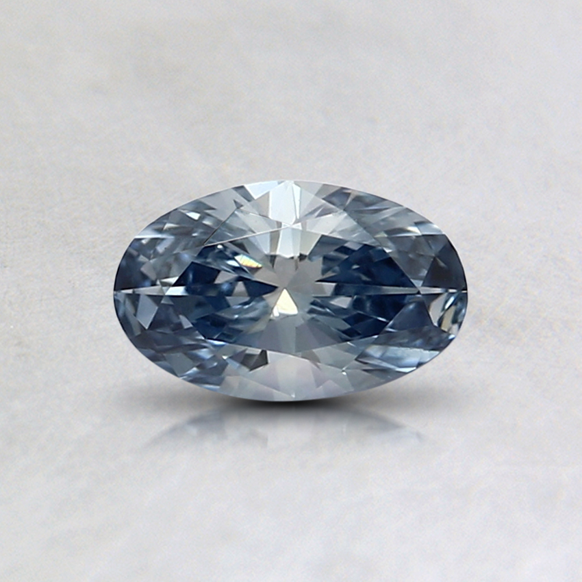 0.35 Ct. Fancy Blue Oval Lab Created Diamond