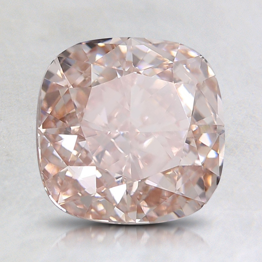 2.01 Ct. Fancy Light Orangy Pink Cushion Lab Created Diamond