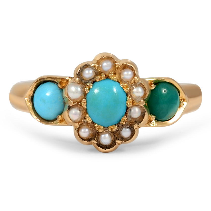 Victorian Turquoise Vintage Ring