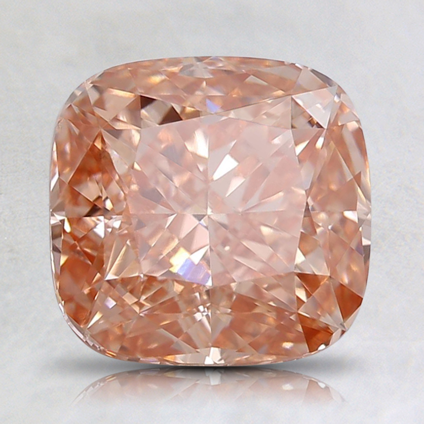 2.31 Ct. Fancy Intense Orangy Pink Cushion Lab Created Diamond
