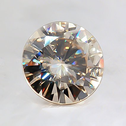 7.5mm Round Moissanite, top view