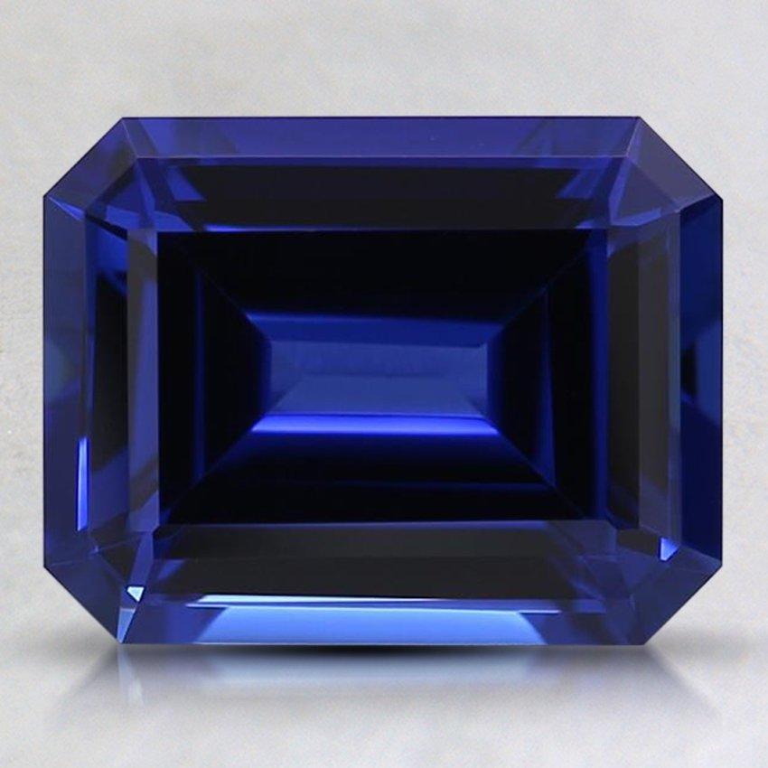 9x7mm Blue Emerald Cut Lab Created Sapphire Sblc9x7ec3