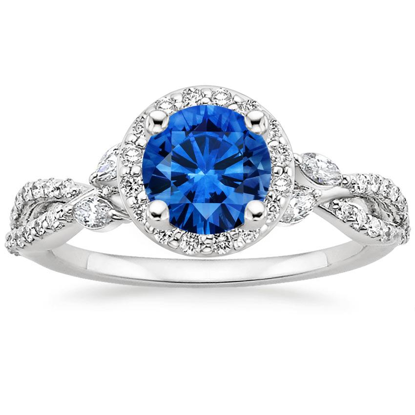 Sapphire Luxe Willow Halo Diamond Ring 1 2 Ct Tw In