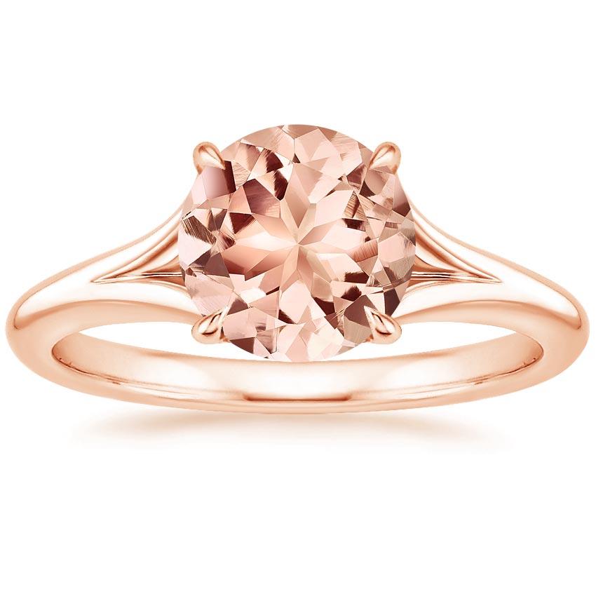 Morganite Reverie Ring in 14K Rose Gold Brilliant Earth