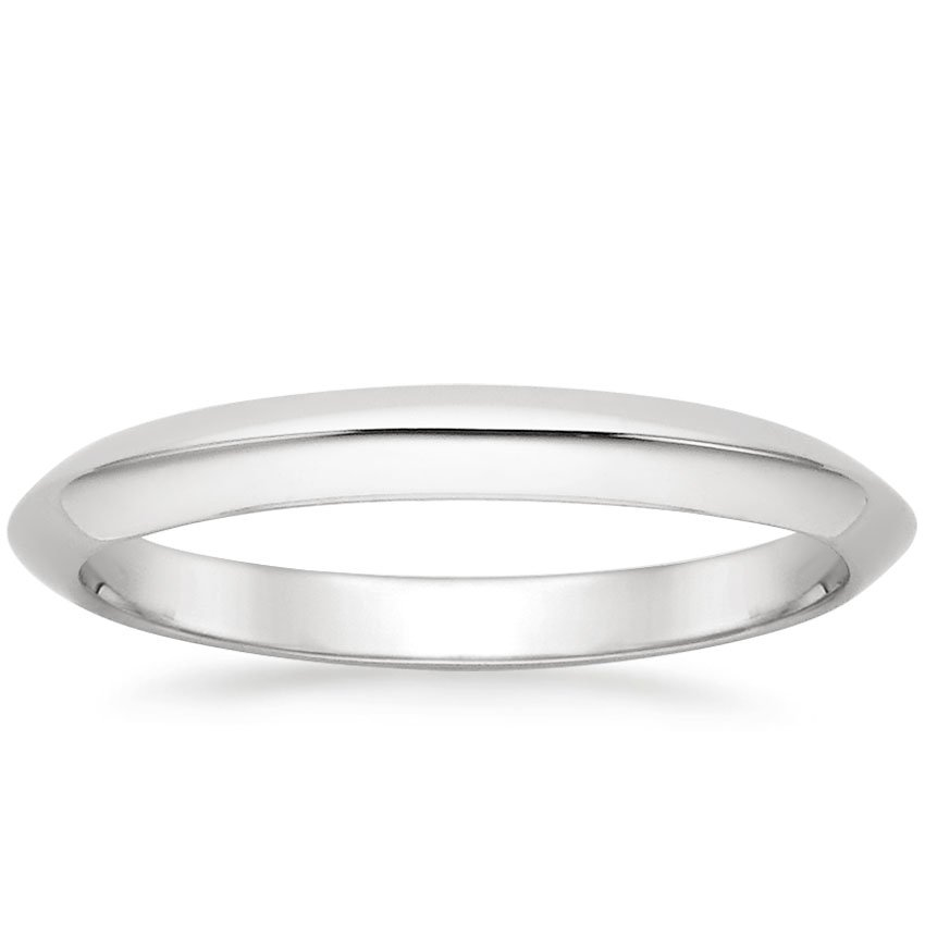 Platinum Classic Wedding Ring, top view