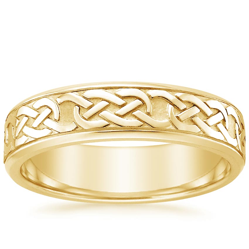 Yellow Gold Celtic Eternity Knot Wedding Ring