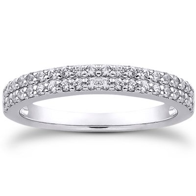 Platinum Avalon Diamond Ring, top view