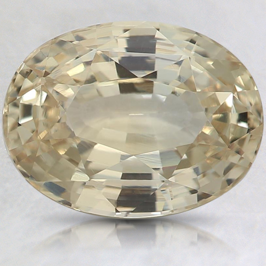 9.9x7.4mm Unheated Yellow Oval Sapphire
