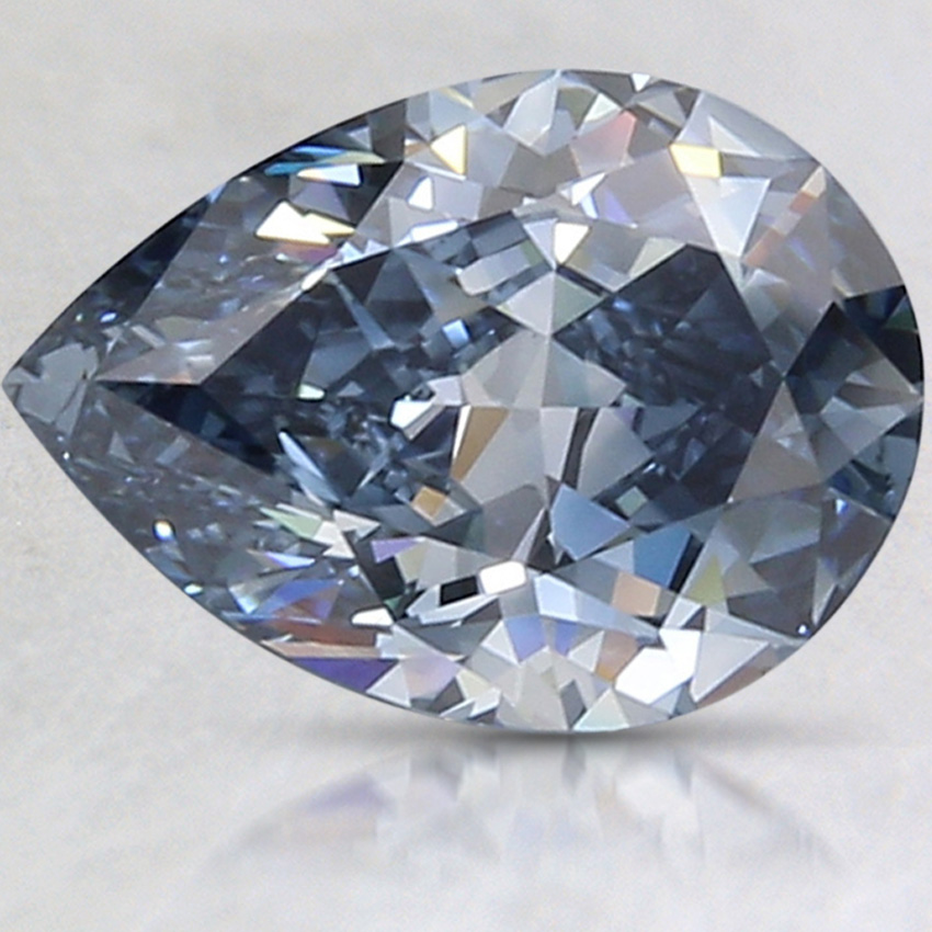 2.07 Ct. Fancy Deep Blue Pear Lab Created Diamond