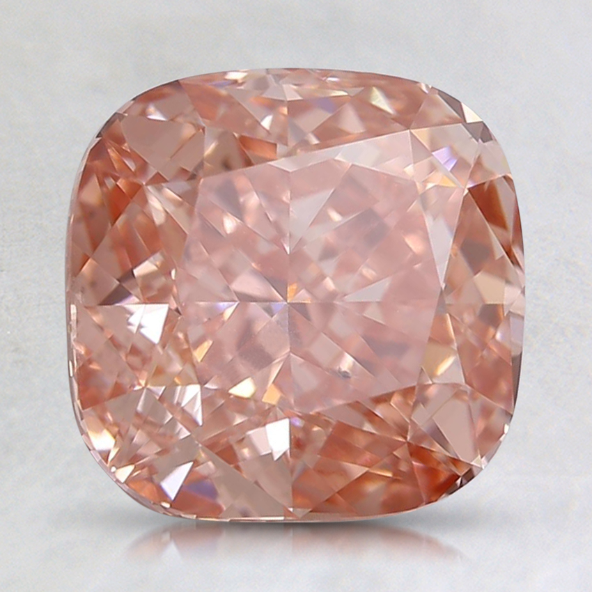 2.75 Ct. Fancy Intense Orangy Pink Cushion Lab Created Diamond