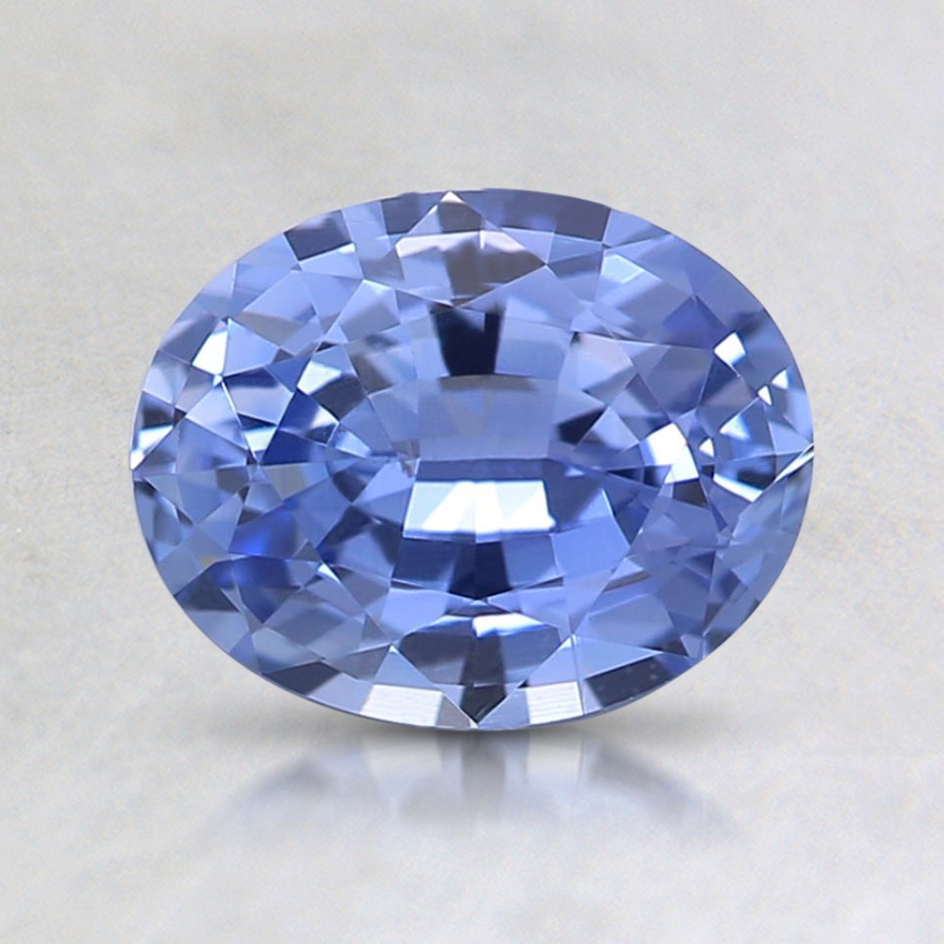 7.4x5.9mm Violet Oval Sapphire