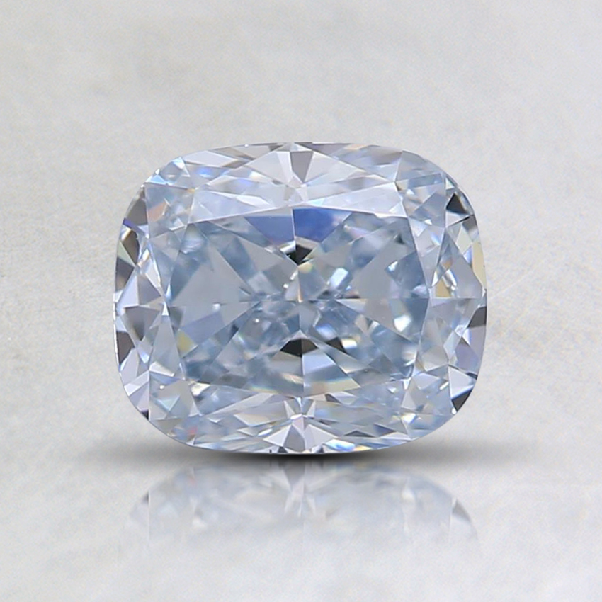 1.06 Ct. Light Blue Cushion Lab Created Diamond