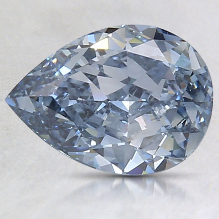 1.75 Ct. Fancy Intense Blue Pear Lab Created Diamond