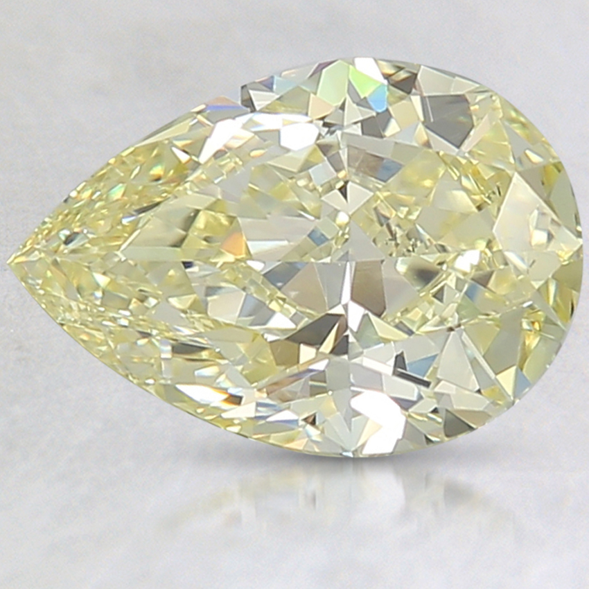 2.50 Ct. Fancy Intense Yellow Pear Lab Created Diamond