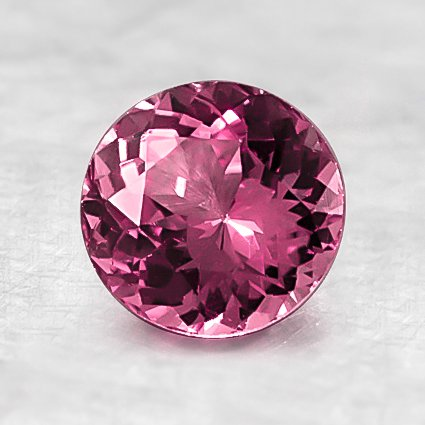 6.6mm Pink Round Sapphire, top view