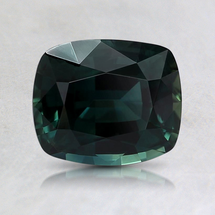 7.1x6mm Unheated Teal Cushion Sapphire