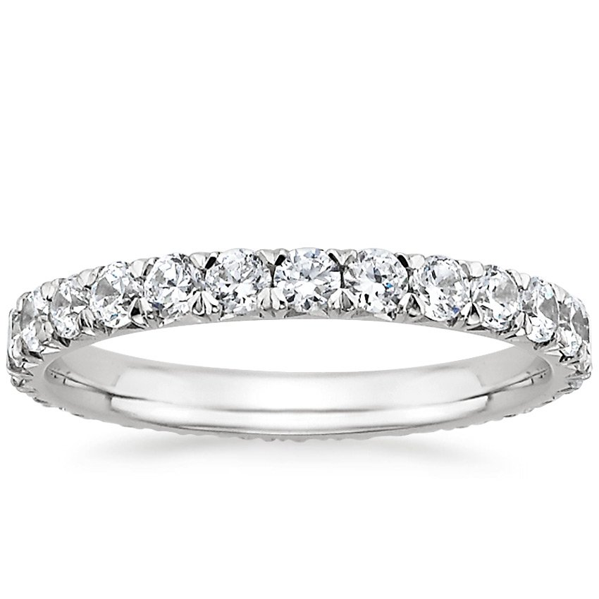Platinum Sienna Eternity Diamond Ring, top view