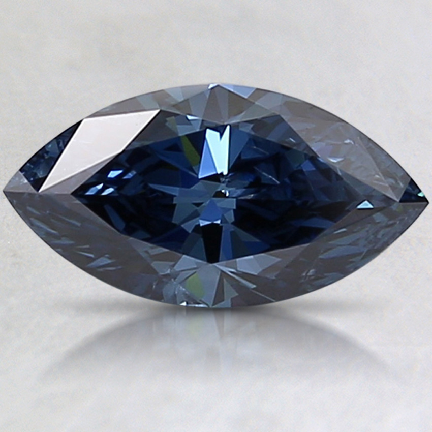 1.00 Ct. Fancy Deep Blue Marquise Lab Created Diamond