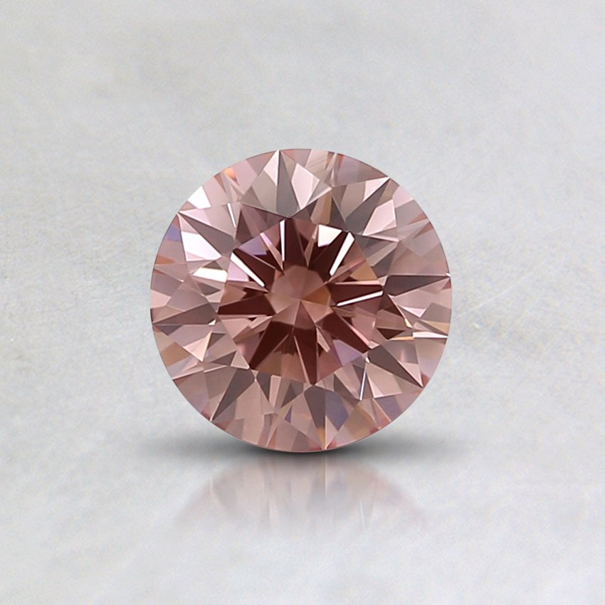 0.51 Ct. Lab Created Fancy Intense Brownish Pink Round Diamond