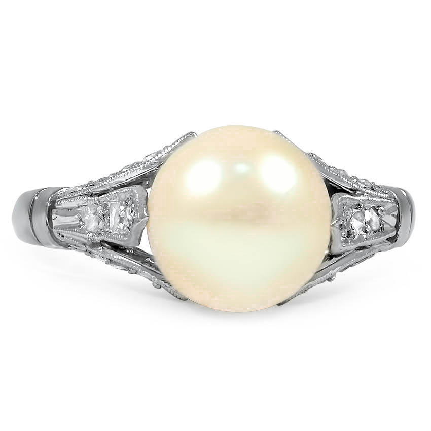 Art Deco Pearl Cocktail Ring