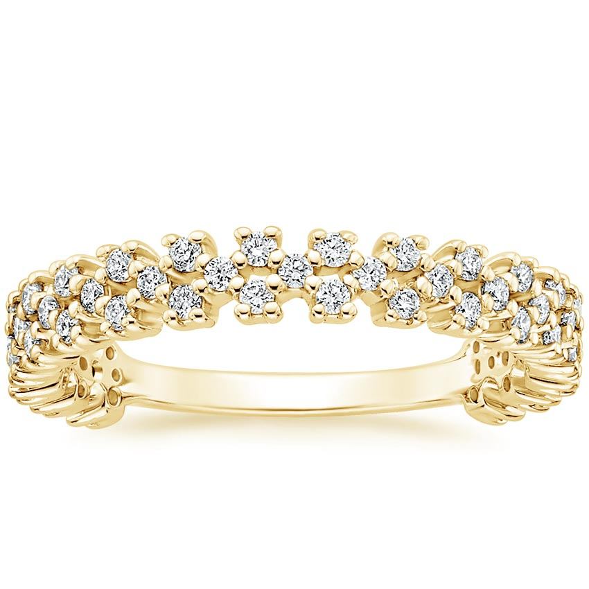 Yellow Gold Scattered Prong Diamond Ring