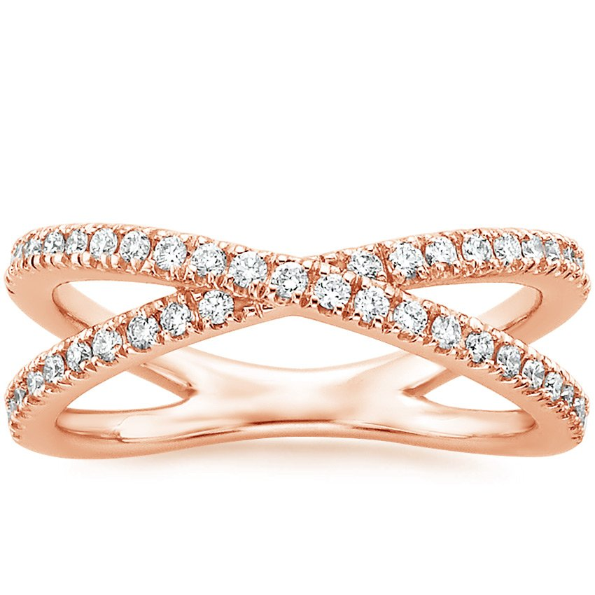 Rose Gold Wrap Diamond Ring