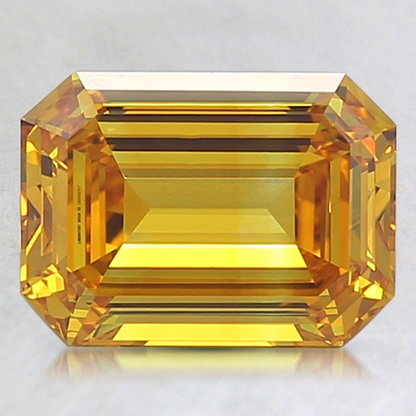 2.20 Ct. Fancy Intense Orangy Yellow Emerald Lab Created Diamond
