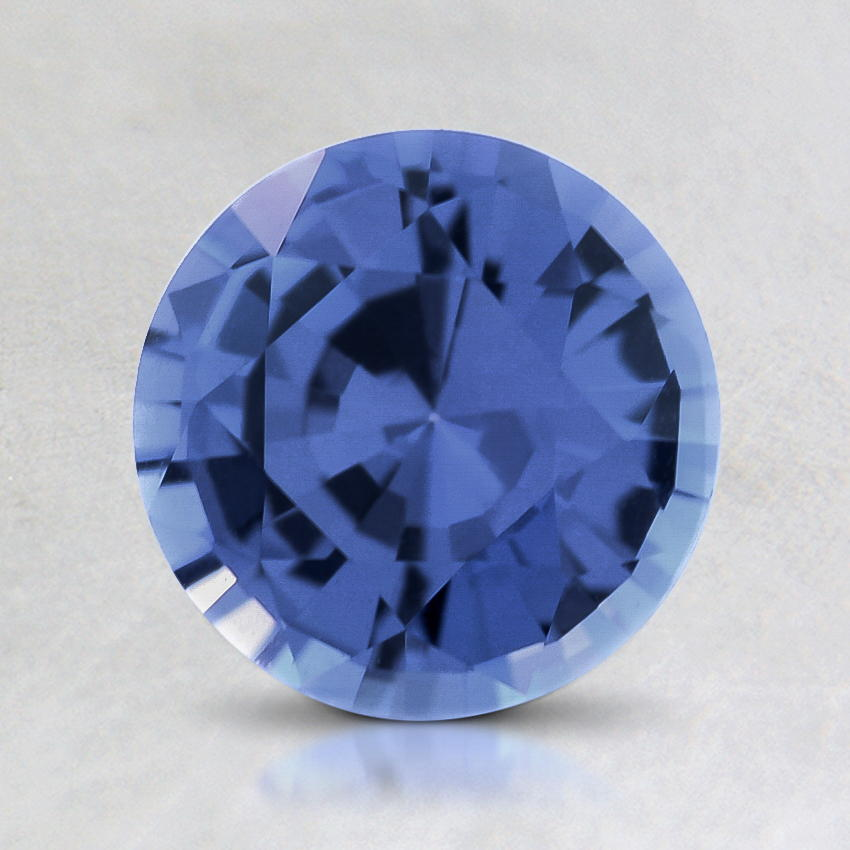 7mm Violet Round Sapphire, top view
