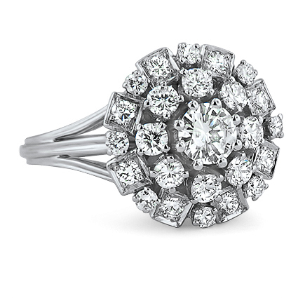 The Sylvie Ring, top view