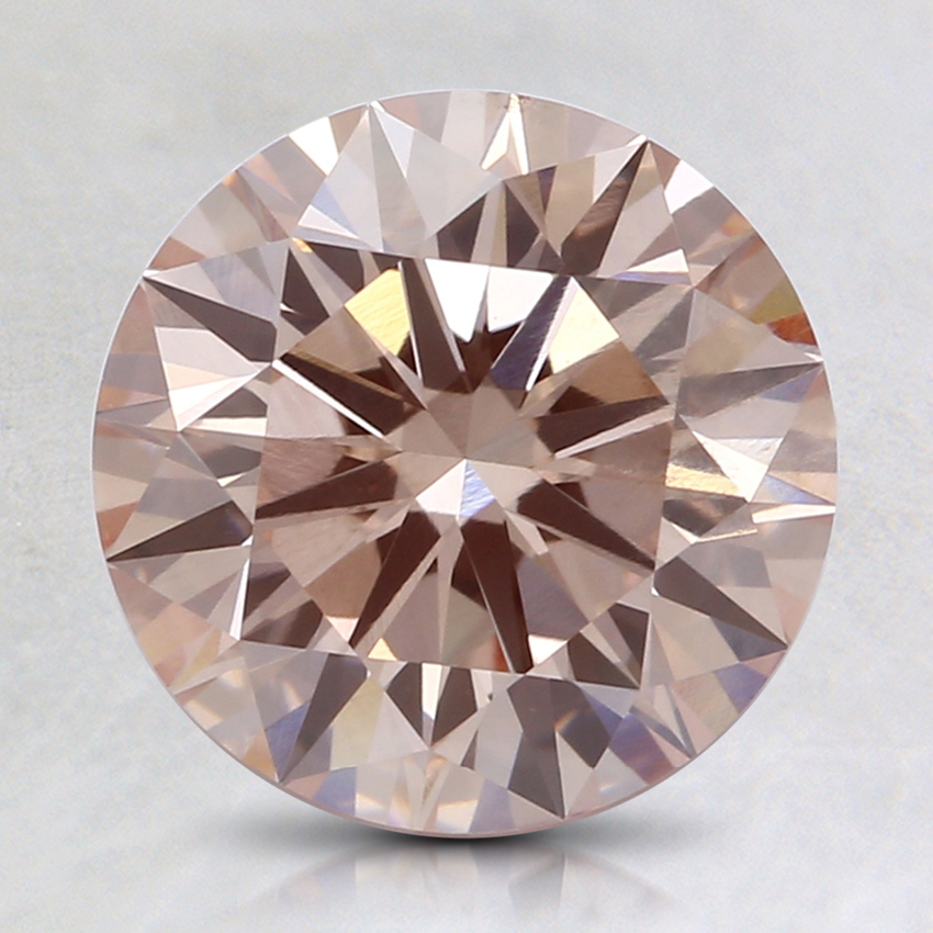 2.01 Ct. Fancy Light Pinkish Orange Round Lab Created Diamond