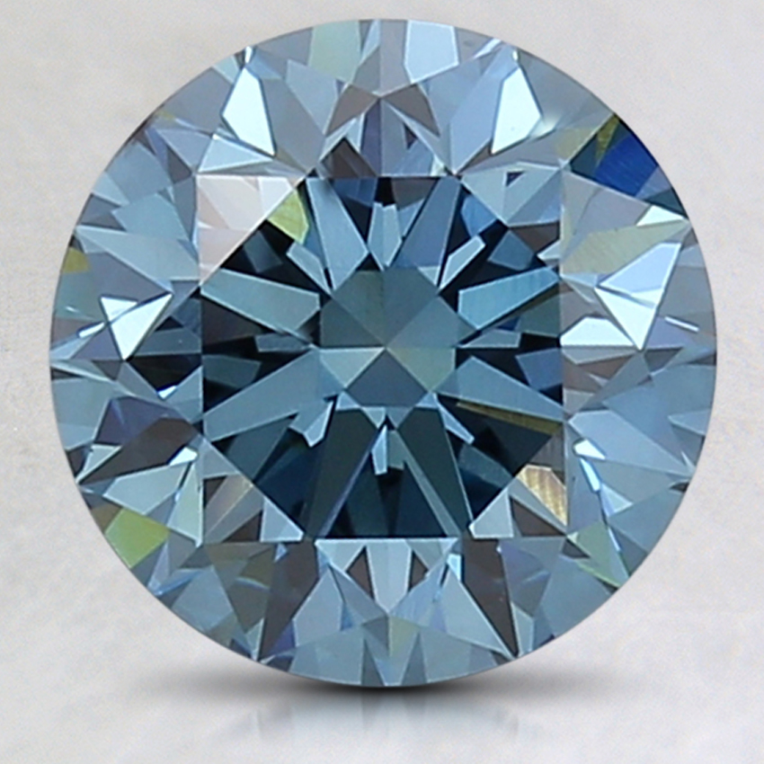 3.02 Ct. Fancy Deep Blue Round Lab Created Diamond