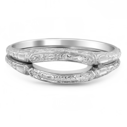 The Posie Contoured Wedding Ring Set, top view
