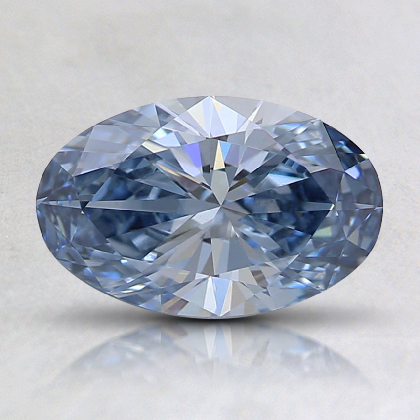 0.96 Ct. Fancy Light Blue Oval Lab Created Diamond
