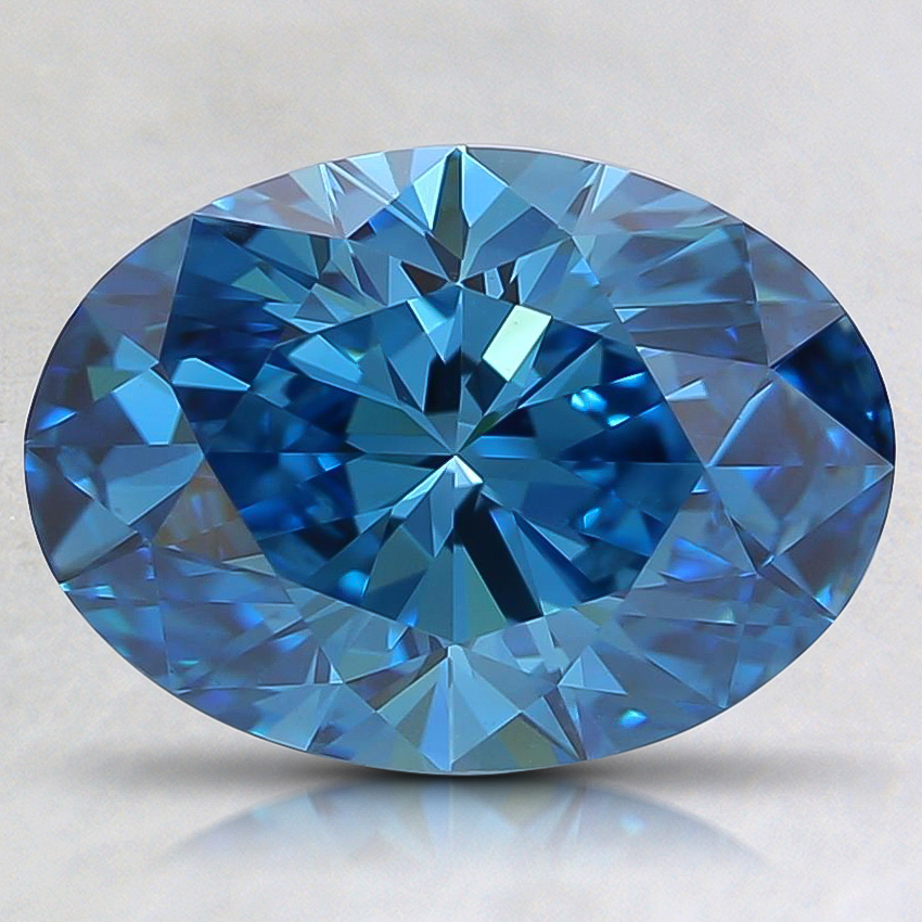 1.79 Ct. Fancy Vivid Blue Oval Lab Created Diamond