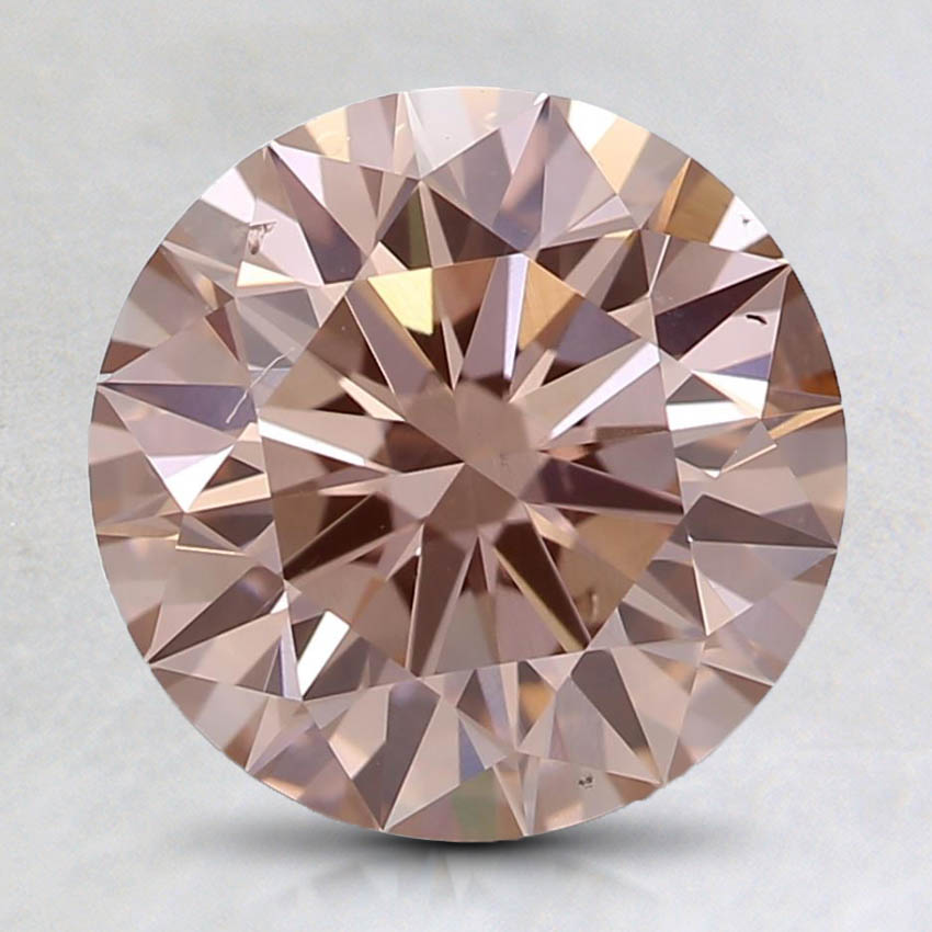 2.09 Ct. Fancy Pink-Brown Round Lab Created Diamond