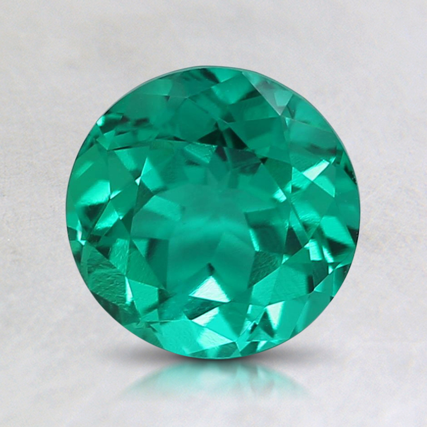 7mm Round Lab Created Emerald