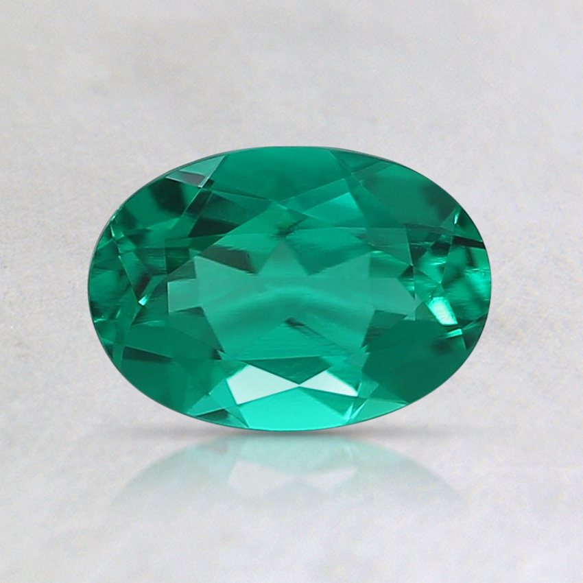 7x5mm Oval Lab Created Emerald