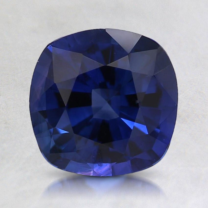 7mm Premium Blue Cushion Sapphire, top view