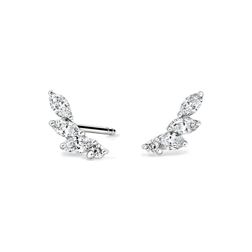 Diamond Crawler Earrings