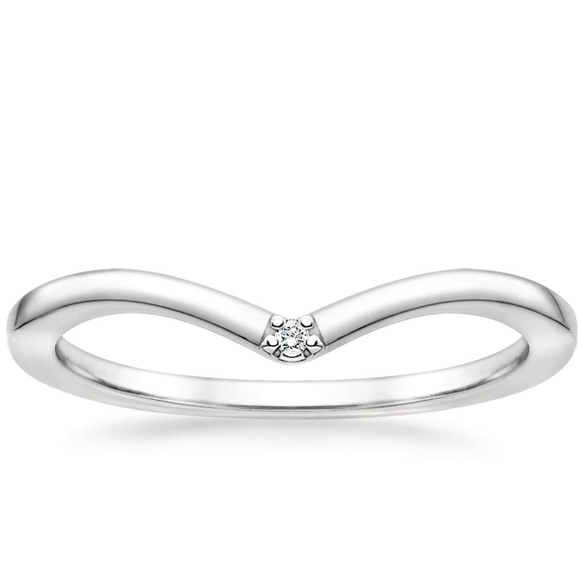 Arc Diamond Ring in 18K White Gold