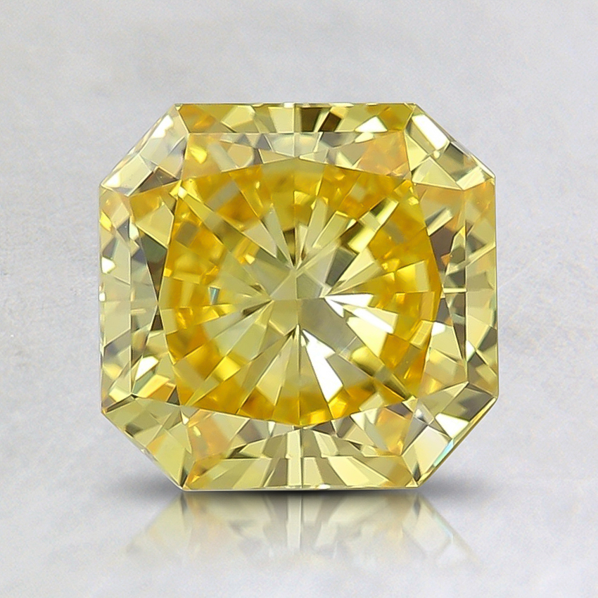 1.62 Ct. Fancy Vivid Yellow Radiant Lab Created Diamond